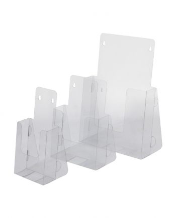 Expositor de folhetos de PVC