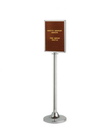 Poste para Cordão com Moldura Vertical Cromado